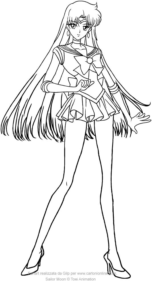 Colorear Sailor Mars Crystal para imprimir y colorear