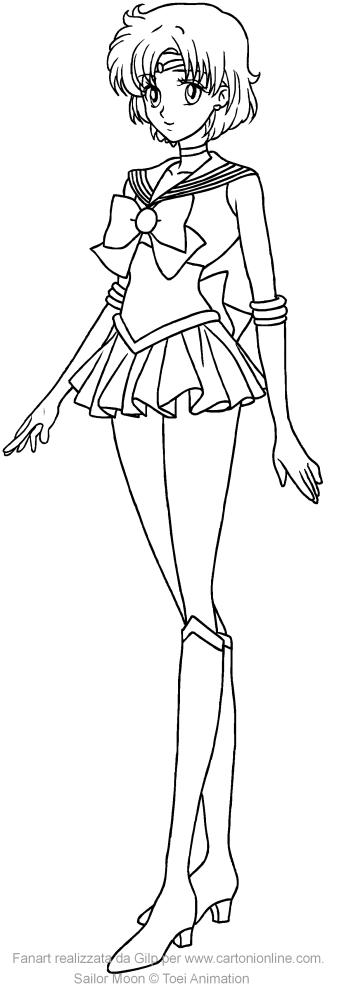 Coloriage de Sailor Mercury Crystal à imprimer et colorier