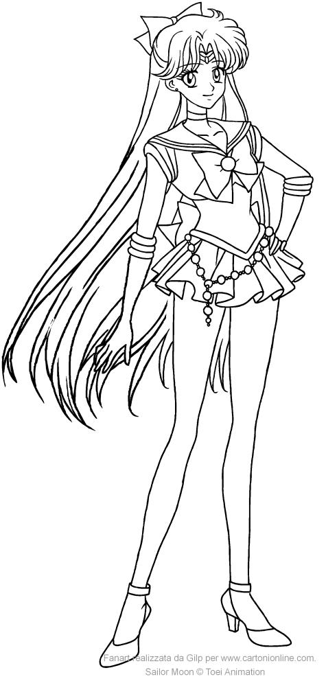 Coloriage de Sailor Venus Crystal à imprimer et colorier