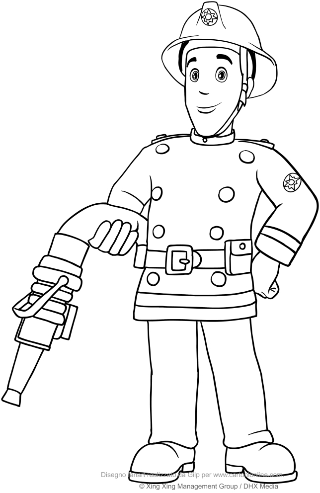Fireman sam coloring pages coloring pages for Coloring pages fireman sam
