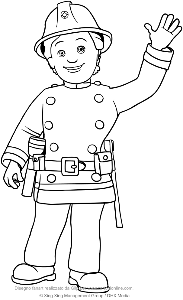 Fireman Sam 2016 New Coloring Page  YouTube