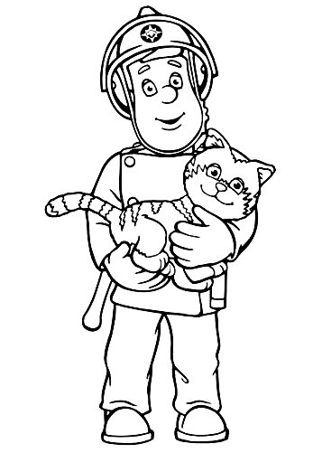Drawing 1 from Fireman Sam coloring page to print and coloring
