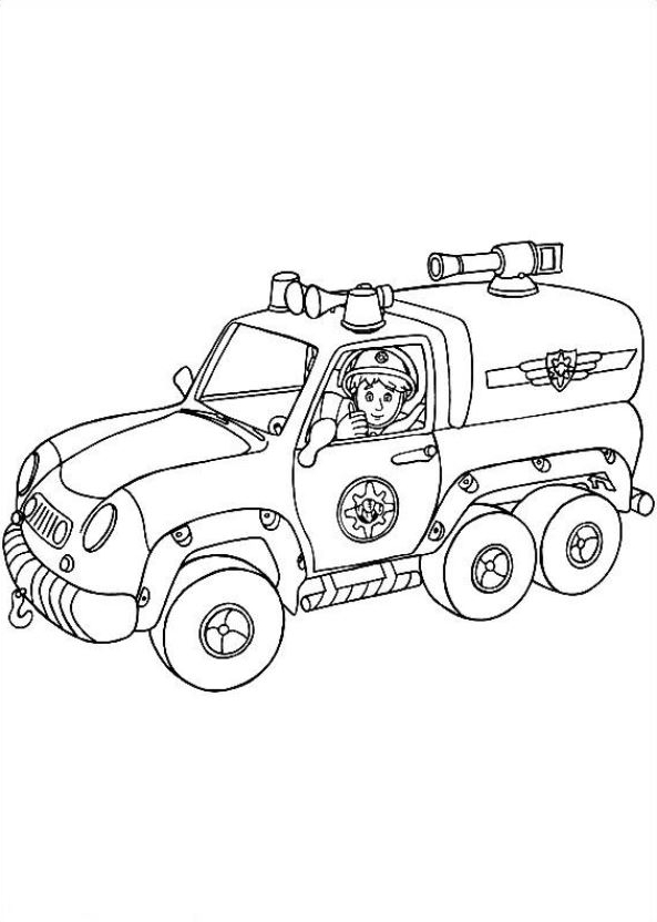 Drawing 3 from Fireman Sam coloring page to print and coloring