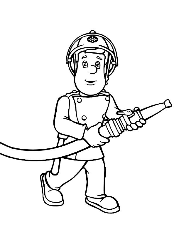 Drawing 4 from Fireman Sam coloring page to print and coloring