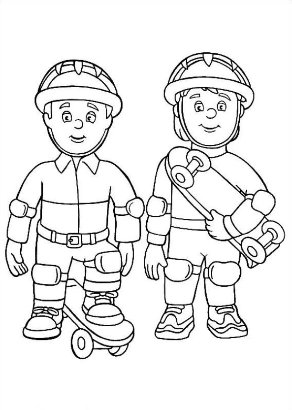 Drawing 6 from Fireman Sam coloring page to print and coloring