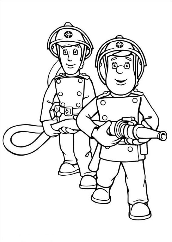 Drawing 7 from Fireman Sam coloring page to print and coloring