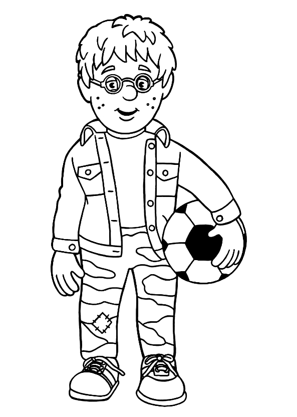 Drawing 11 from Fireman Sam coloring page to print and coloring