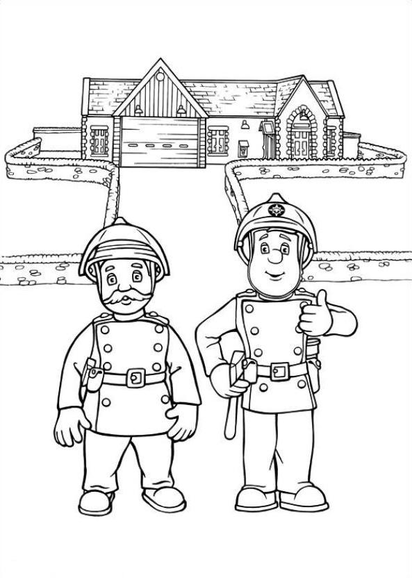 Coloriage 12 de Sam le pompier à imprimer et colorier