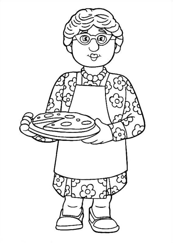 Drawing 14 from Fireman Sam coloring page to print and coloring