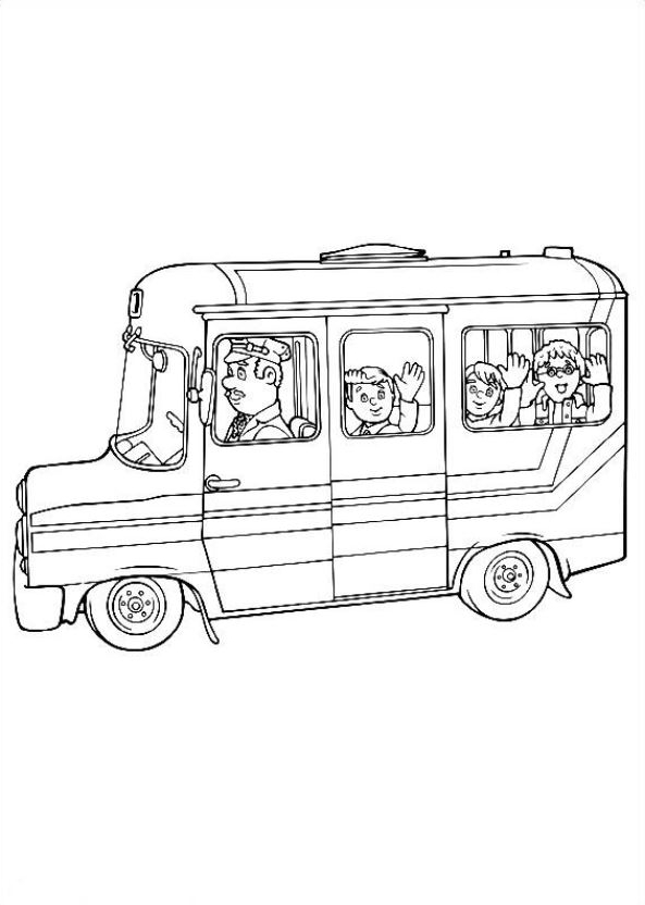 Drawing 15 from Fireman Sam coloring page to print and coloring