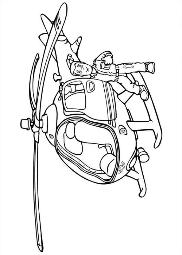 Drawing 17 from Fireman Sam coloring page to print and coloring