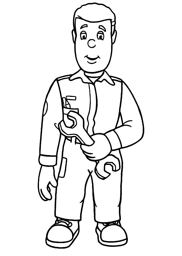 Drawing 18 from Fireman Sam coloring page to print and coloring