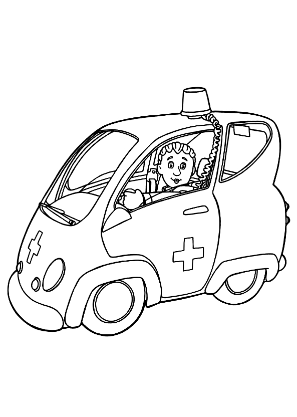 Drawing 19 from Fireman Sam coloring page to print and coloring