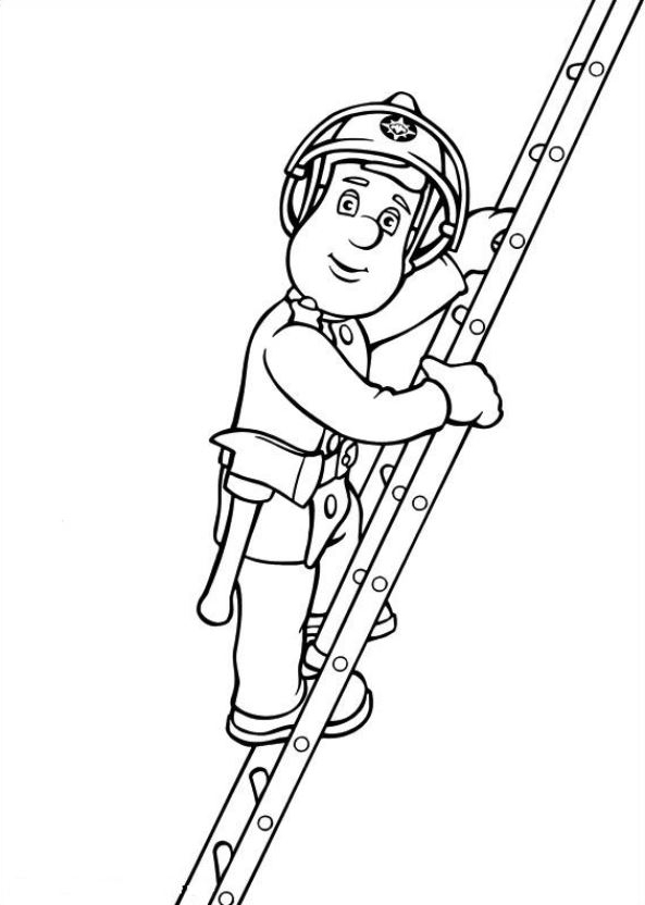 Drawing 23 from Fireman Sam coloring page to print and coloring