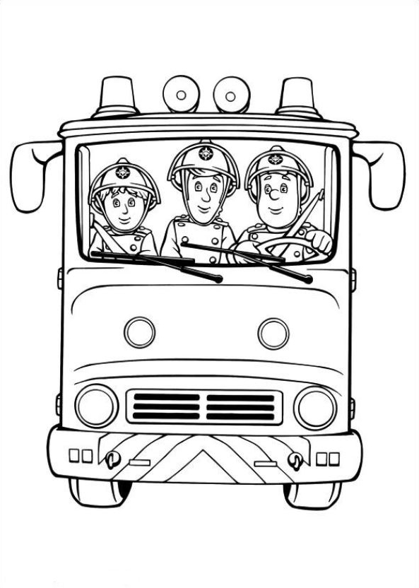 Drawing 24 from Fireman Sam coloring page to print and coloring