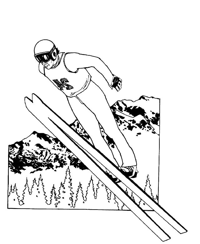 滑雪图23进行打印和着色