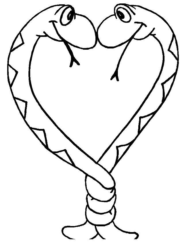 Dibujo 9 de serpientes para imprimir y colorear