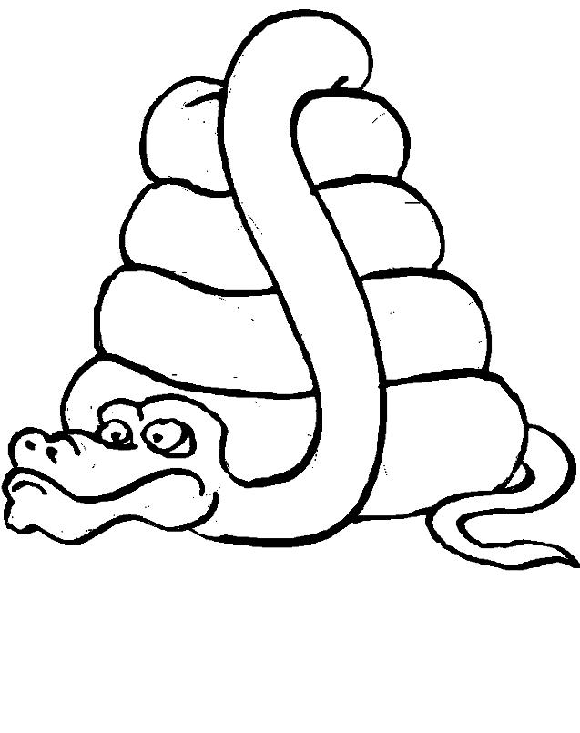 Dibujo 10 de serpientes para imprimir y colorear