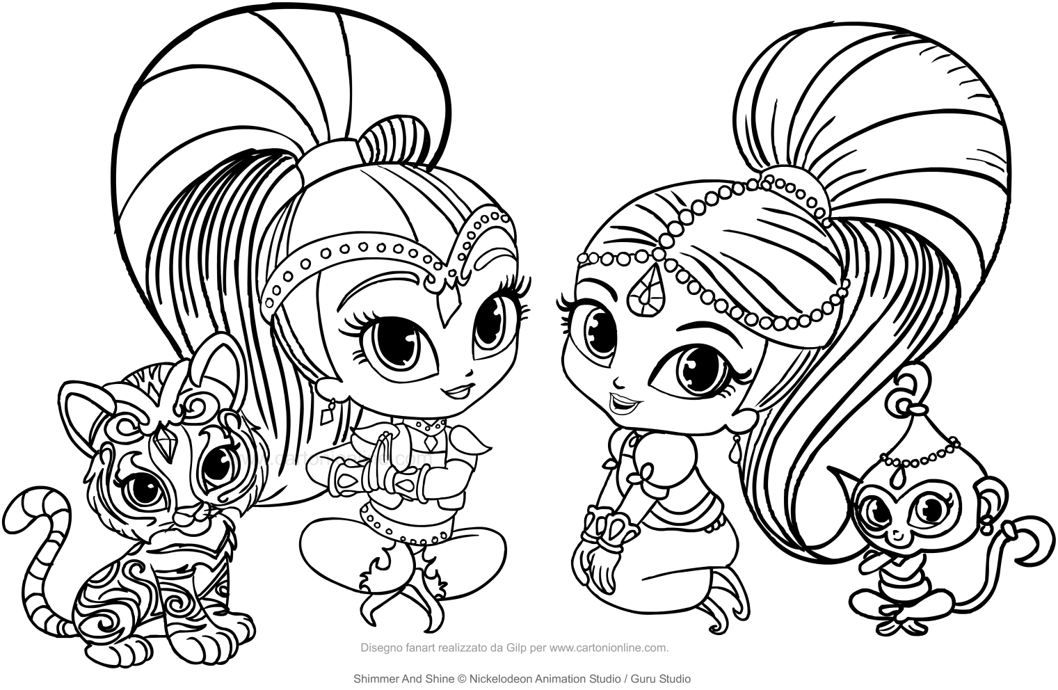Disegni Di Shimmer And Shine Da Colorare