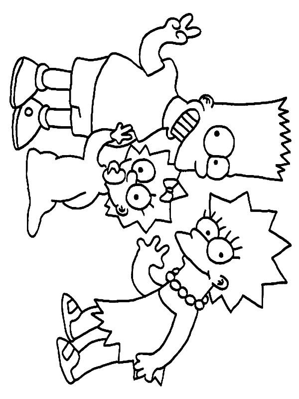 Coloriage 13 De Simpsons
