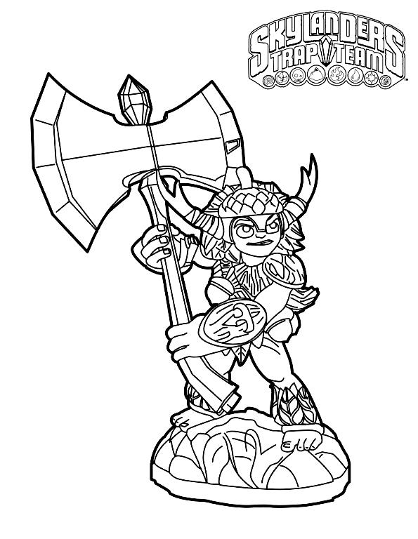 Coloriage 3 de Skylanders à imprimer et colorier