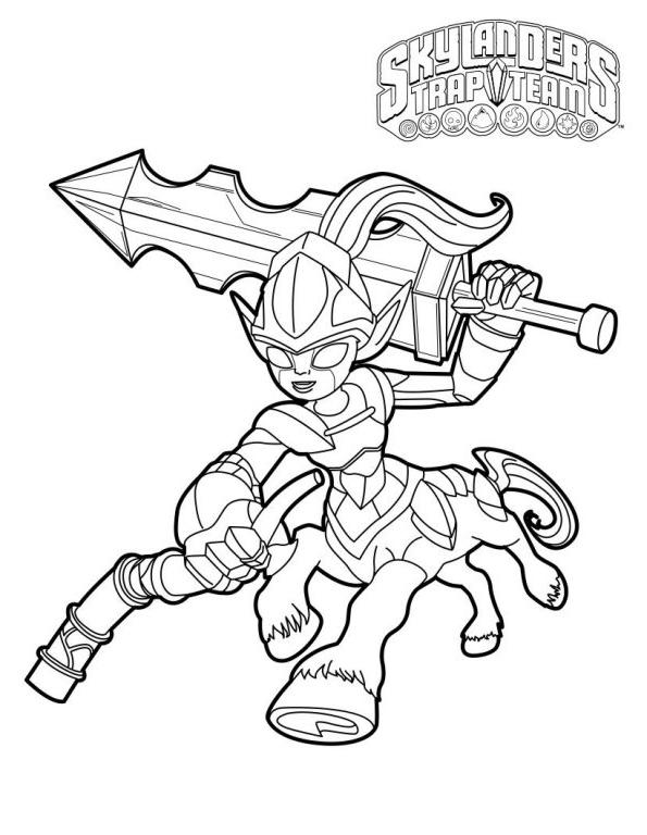 Coloriage 19 de Skylanders à imprimer et colorier