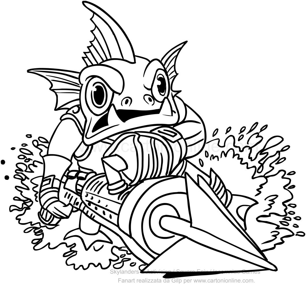 disegni da colorare e stampare gratis skylanders