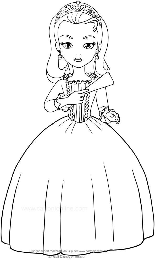 Disegno Della Principessa Amber Sofia La Principessa Da Colorare