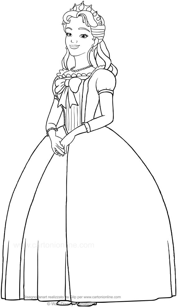 Disegno Della Regina Miranda Sofia La Principessa Da Colorare