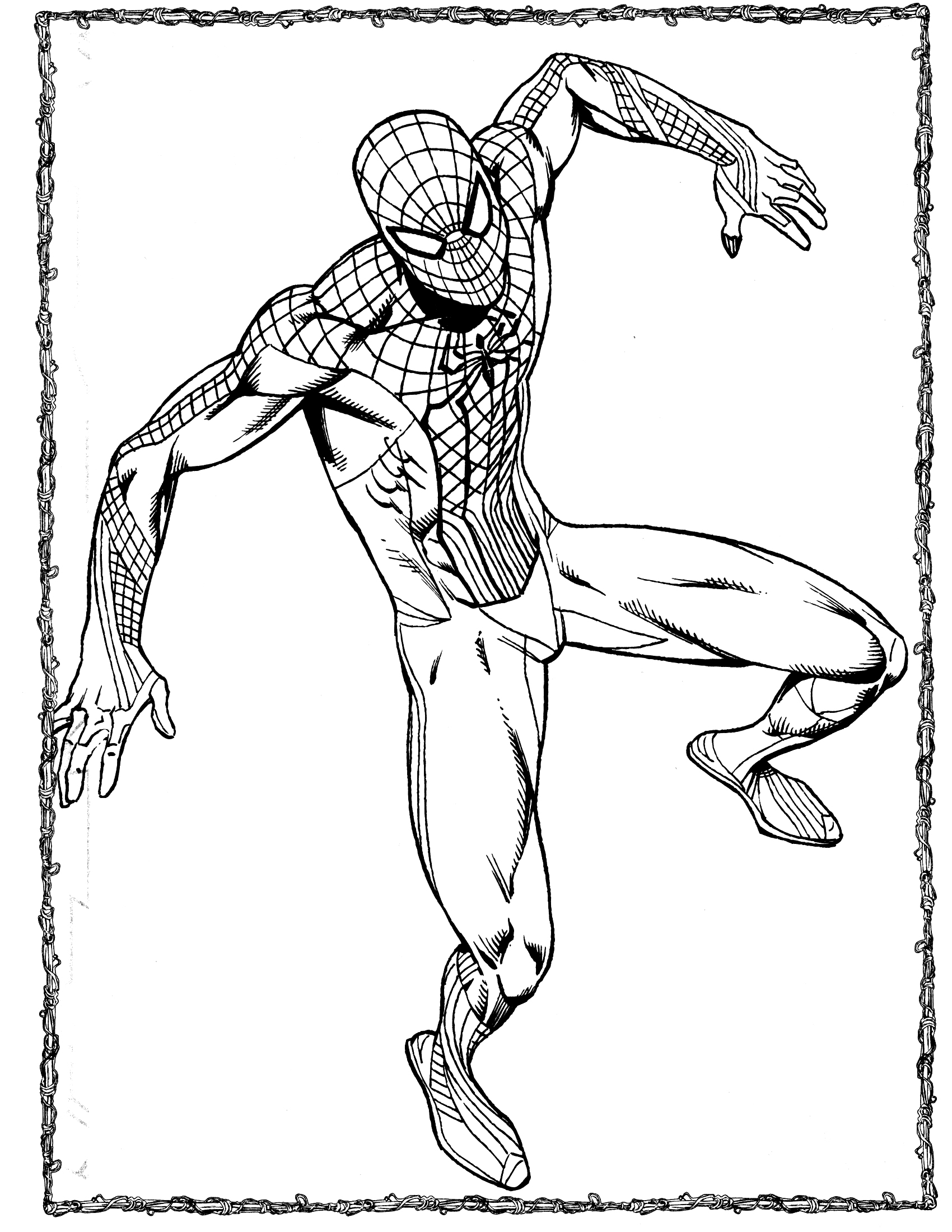 Disegno di spiderman da colorare Disegni spiderman da colorare gratis