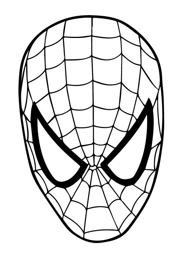 Disegno Della Maschera Di Spiderman Da Colorare