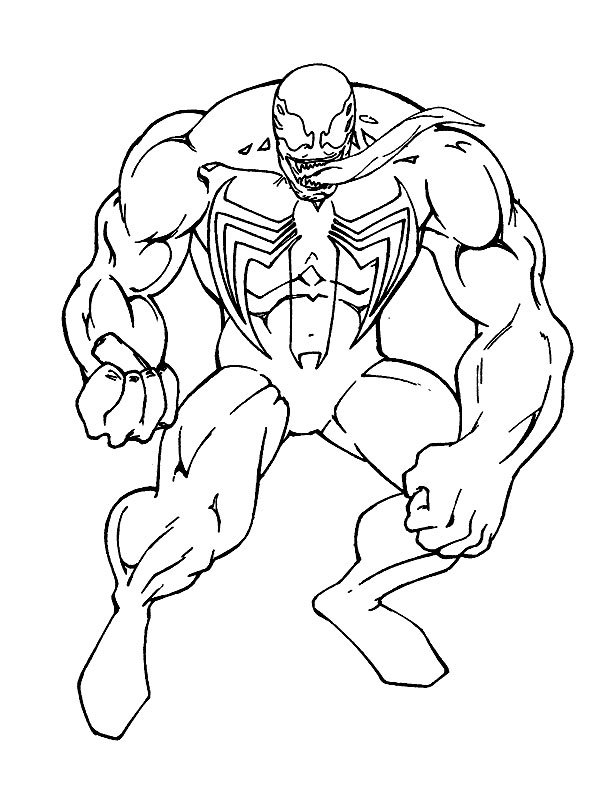 Disegno di venom da colorare for Disegni da colorare di spiderman