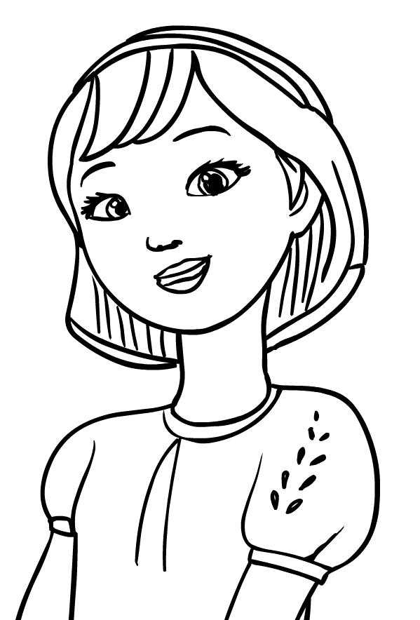 Disegno di Abigail Stone (viso) di Spirit Riding Free da stampare e colorare
