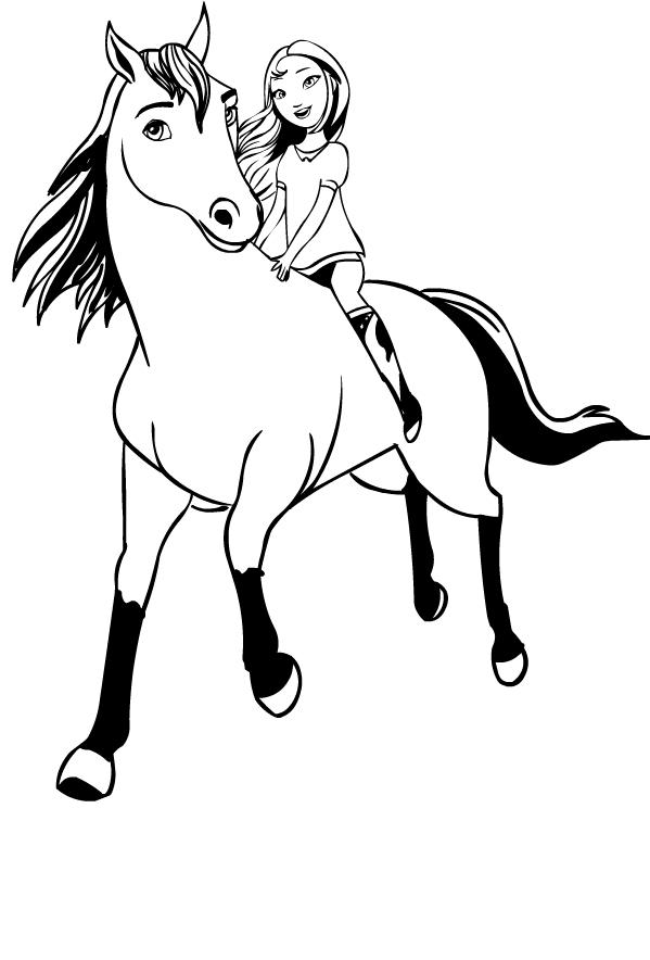 Disegno di Spirit Riding Free da stampare e colorare