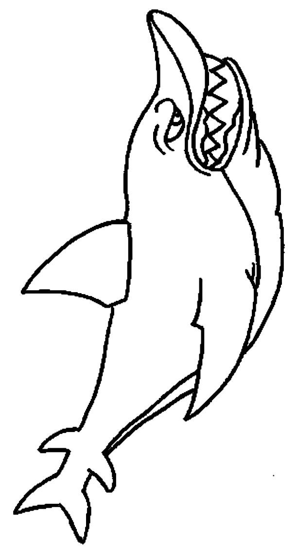 Dibujo 5 de Tiburones para imprimir y colorear