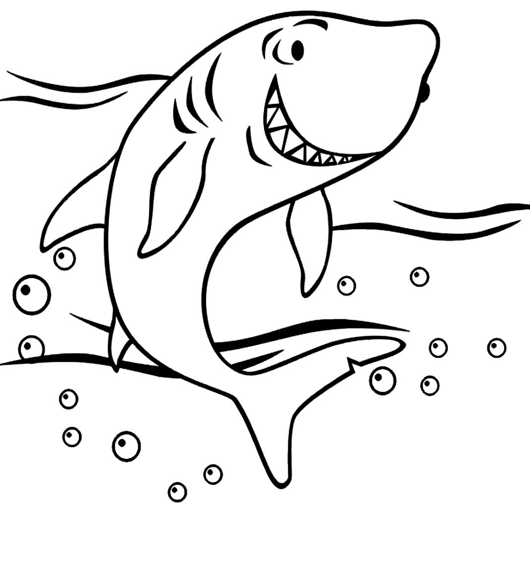 Dibujo 24 de Tiburones para imprimir y colorear