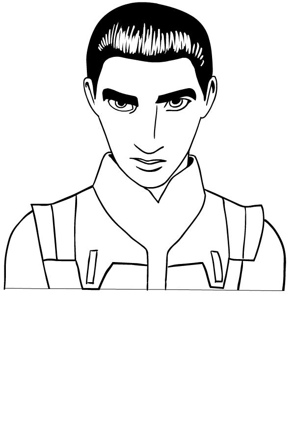 Colorear Star Wars Rebels Ezra Bridger para imprimir y colorear