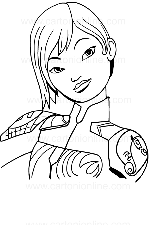 Disegni Da Colorare Star Wars Rebels.Disegno Di Sabine Wren Di Star Wars Rebels Da Colorare