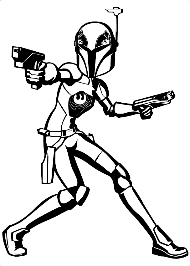 Disegni Da Colorare Star Wars Rebels.Disegno Di Star Wars Rebels Da Colorare