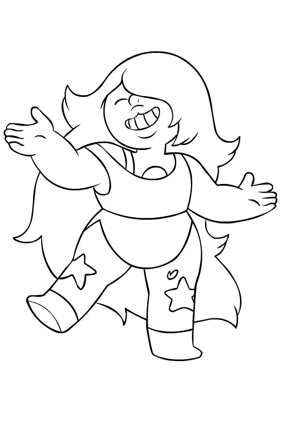 Colorear Steven Universe Amethyst para imprimir y colorear