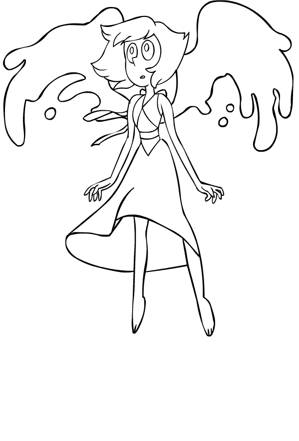 Disegno di Lapislazzuli di Steven Universe da stampare e colorare
