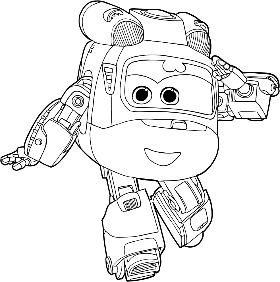 Disegno di dizzy dei super wings da colorare for Disegni da colorare super wings