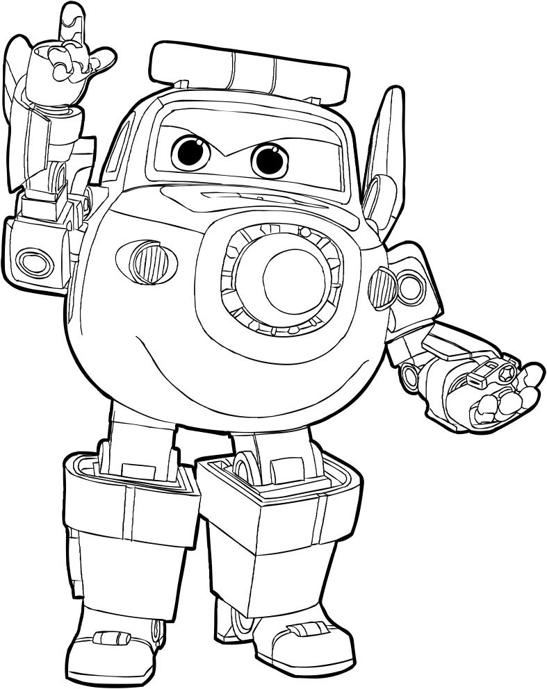 Disegno di paul dei super wings da colorare for Disegni da colorare super wings