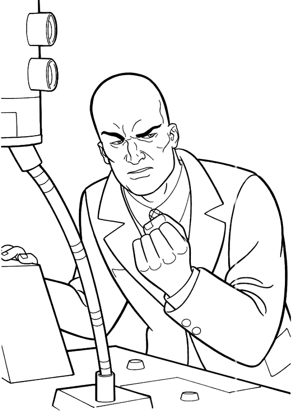 Dessin de Lex Luthor l'ennemi de Superman à imprimer et colorier