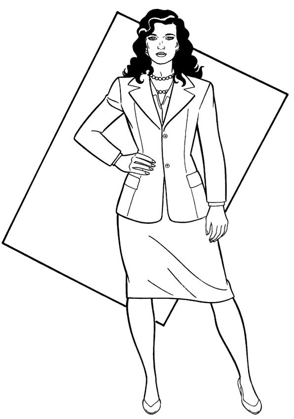 Lois Lane la petite amie de Superman à imprimer et colorier