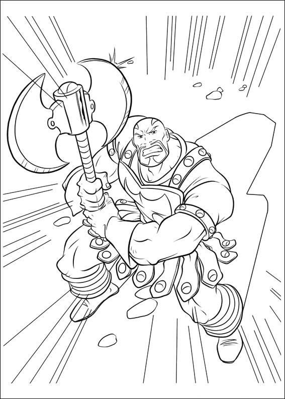 Dessin d'Exécuteur, l'ennemi de Thor à imprimer et colorier