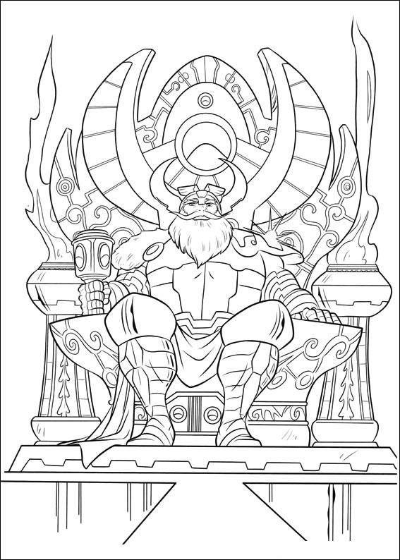 Dessin d'Odin, le père de Thor pour imprimer et colorier