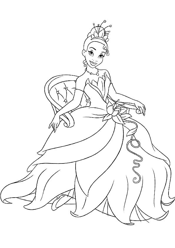 Disegno Di Tiana De La Principessa E Il Ranocchio Da Colorare