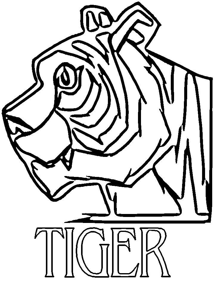 Disegno 6 di tigri da stampare e colorare
