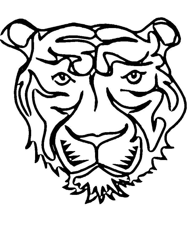 Disegno 8 di tigri da stampare e colorare